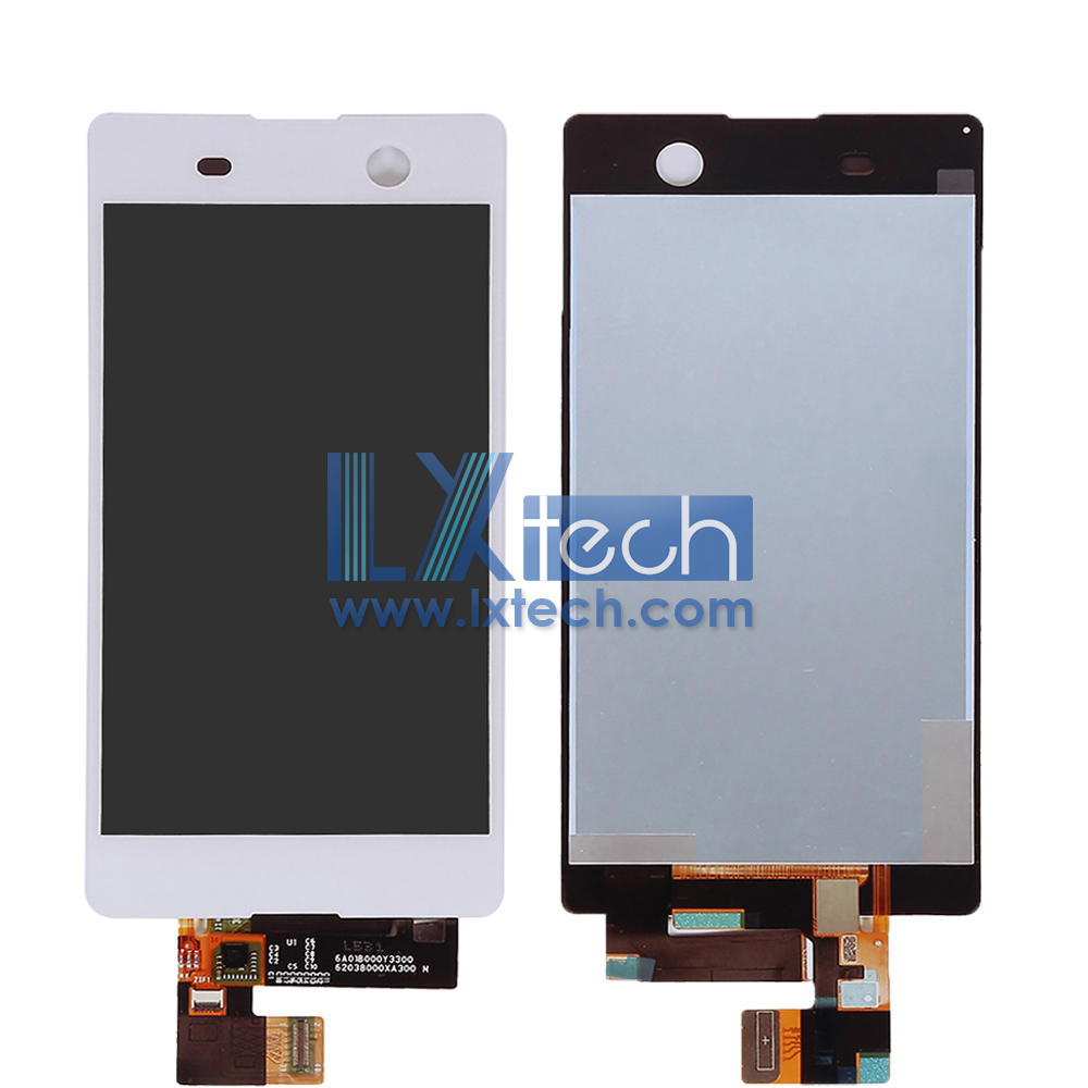 Sony M5 LCD Complete Screen White