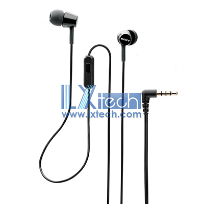 Sony MDR-EX155AP In-Ear Headphones with Mic (Black)