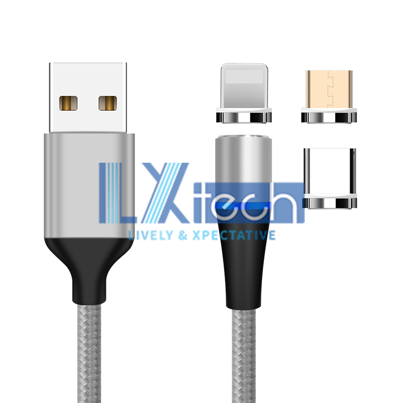Magnetic 3 In 1 Fast Charging Cable