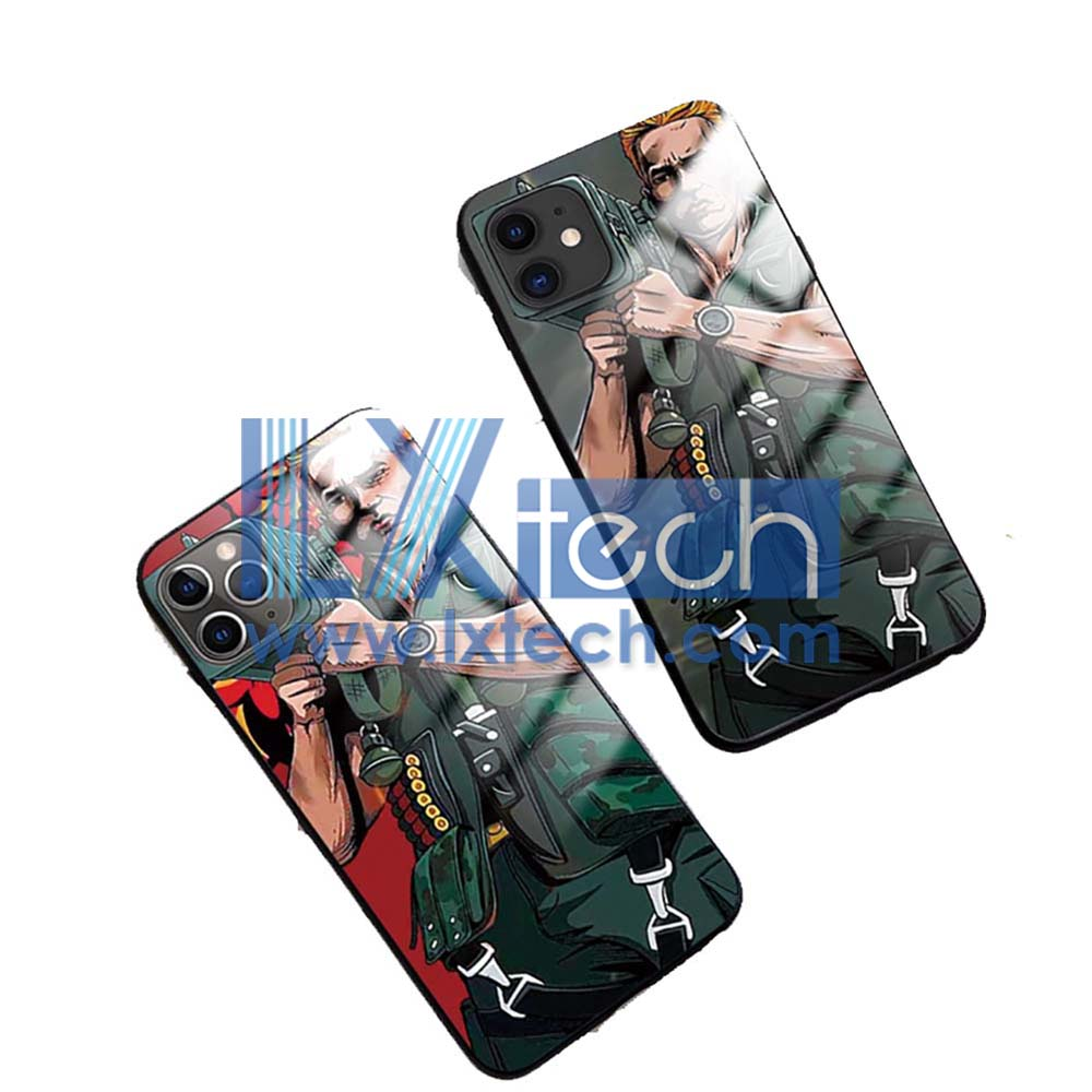 iphone 11, pro, maxcase+glass style phone case